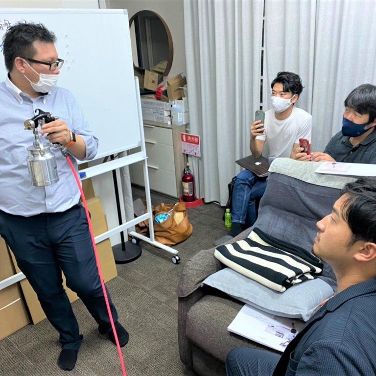 ナノゾーンコート施工講習会開催!